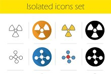 Science. 12 icons set. Vector