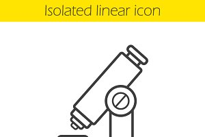 Microscope linear icon. Vector