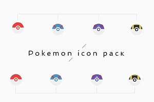 Pokemon icon vector pack