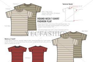 Men Round Neck T-shirt Fashion Flats
