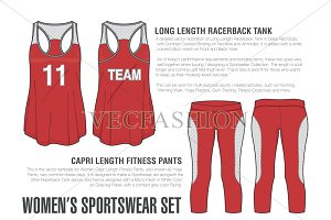 Women Sportswear Vector Set