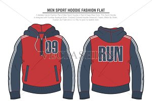 Men Sport Hoodie Fashion Flat