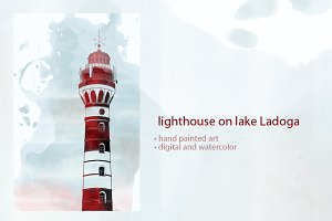 lighthouse on lake Ladoga