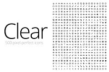 Clear Icons - Thick (500 Icons)