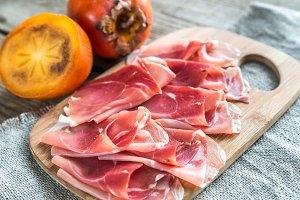Slices of jamon