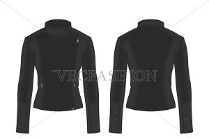 Women Biker Jacket Fashion Flat