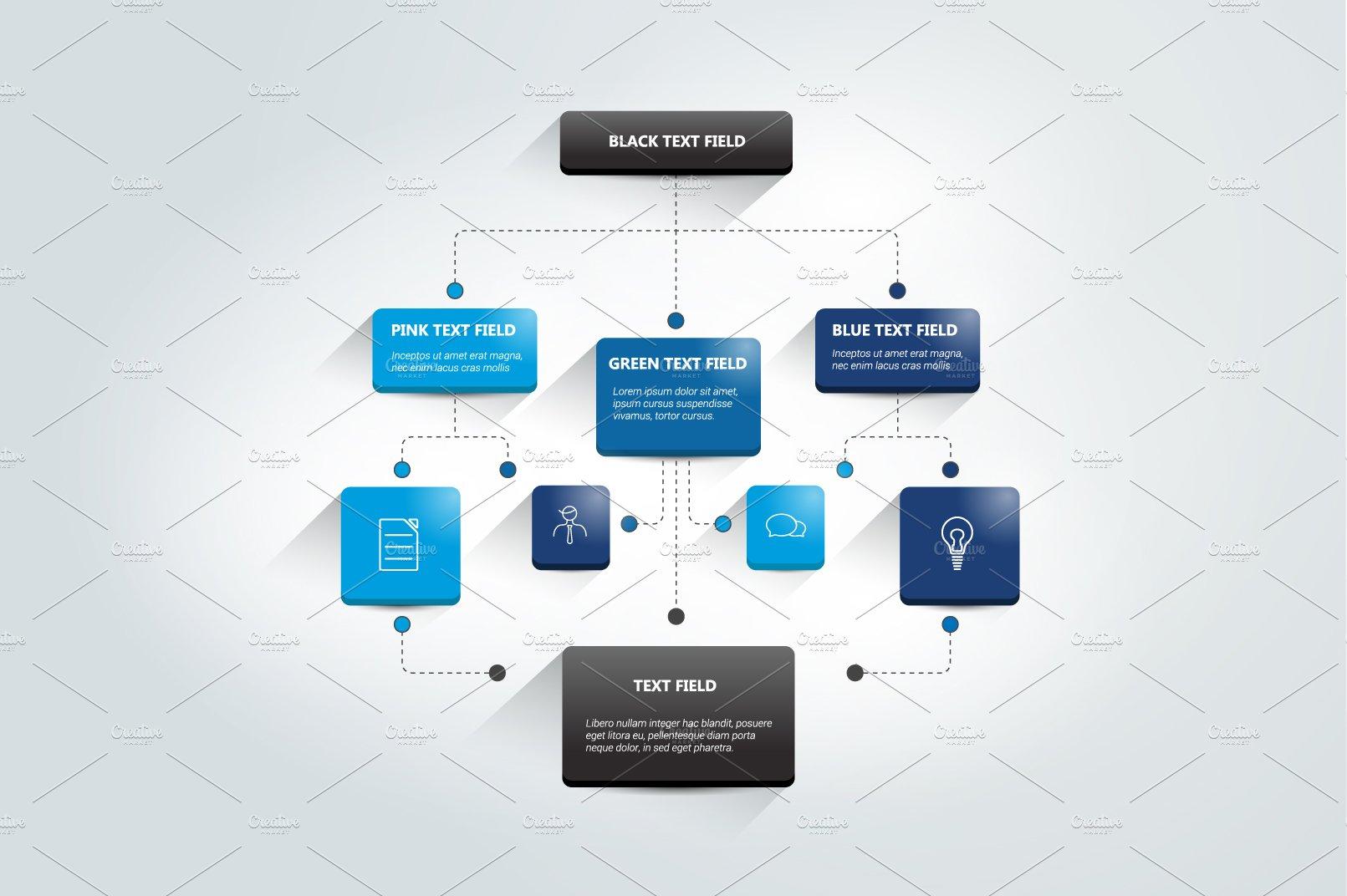 Infographics flowchart. ~ Illustrations ~ Creative Market