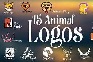 Bundle of 15 Animal Logo Pack