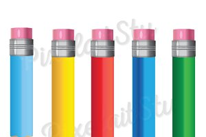 Pencils Vector Clip Art
