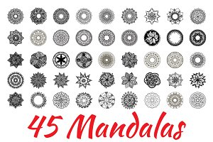 BIG BUNDLE MANDALAS (45 set)