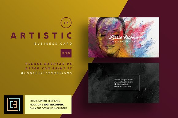 artistic business card 84 business card templates creative market