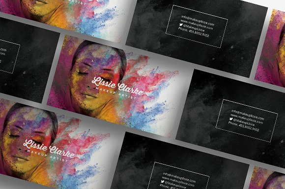 Artistic business card 84 business card templates creative market colourmoves