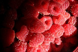 raspberries and sunbeam