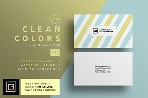 Clean Colors - Business Card 83