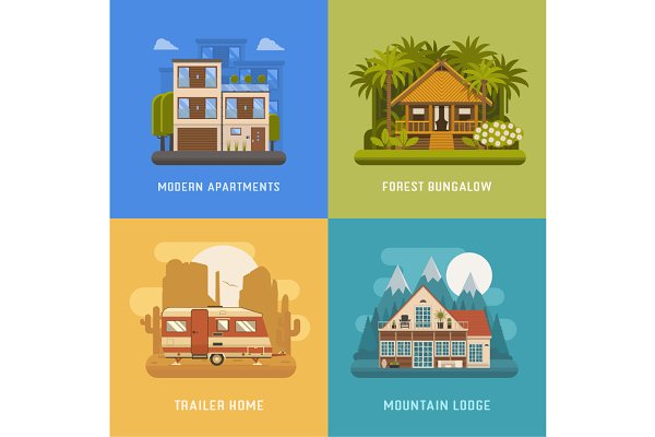 Bungalow, Cottage, Trailer and Hous…