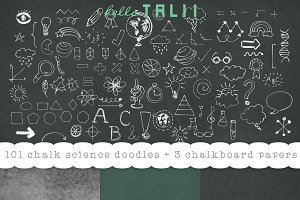 101 Back to School Chalk Doodles+JPG