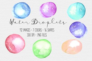 Watercolor Water Droplet Clipart