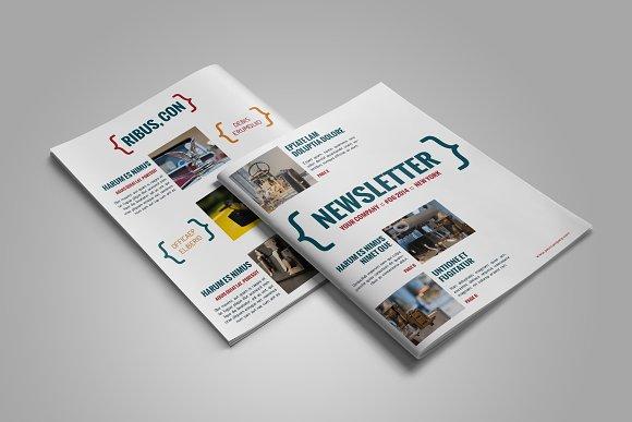 Newsletter InDesign Template Magazine Templates on Creative Market – Indesign Newsletter