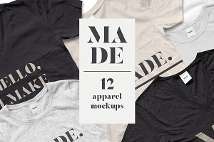 MADE- 12 Apparel Mockups