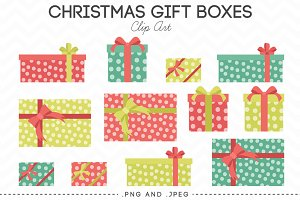 Christmas Gift Box Clip Art