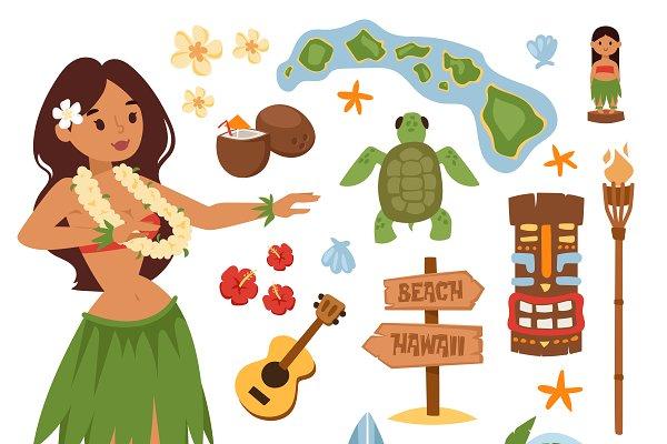 Hawaii vector set