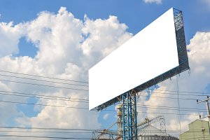 billboard on road for advertisement