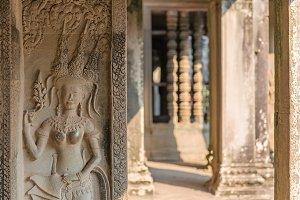 Bayon Castle in siem reap Cambodia