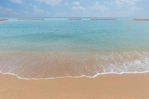 wave of sea on Tropical beach