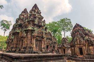 Banteay Srei Castle in Cambodia.