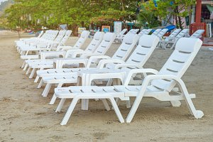 sunbed or chair on the beach