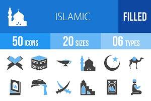 50 Islamic Blue & Black Icons