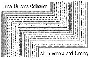 20 Hand-drawn ethnic brushes