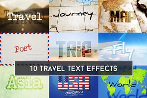 Travel Text Effects Mockup