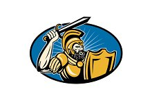 Roman Centurion Soldier With Sword