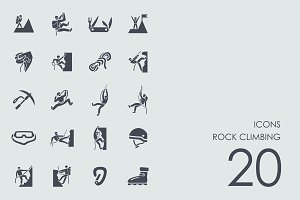 Rock climbing icons