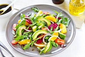 Avocado with Orange and Beet salad
