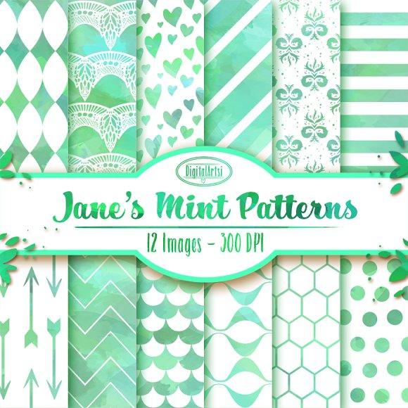 Watercolor Mint Patterns