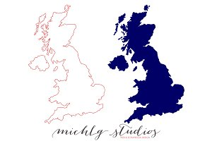 UK VECTOR & PNG map clipart