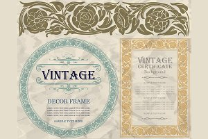 Vintage decor frames