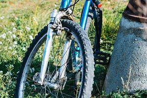 Mountain blue bike