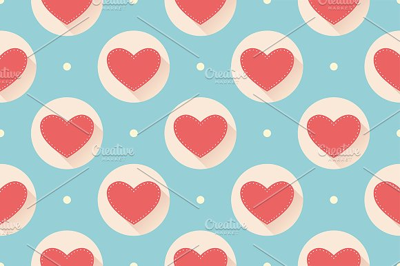 Seamless heart pattern in Patterns