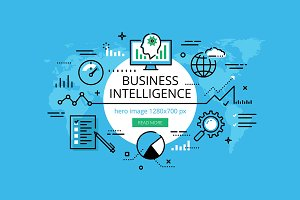 Business Intelligence banner set