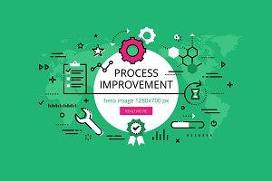 Process Improvement banner set