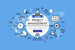 Project Management hero banner set
