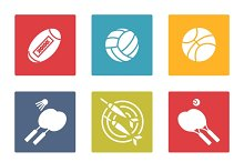 Colorful sport icons set