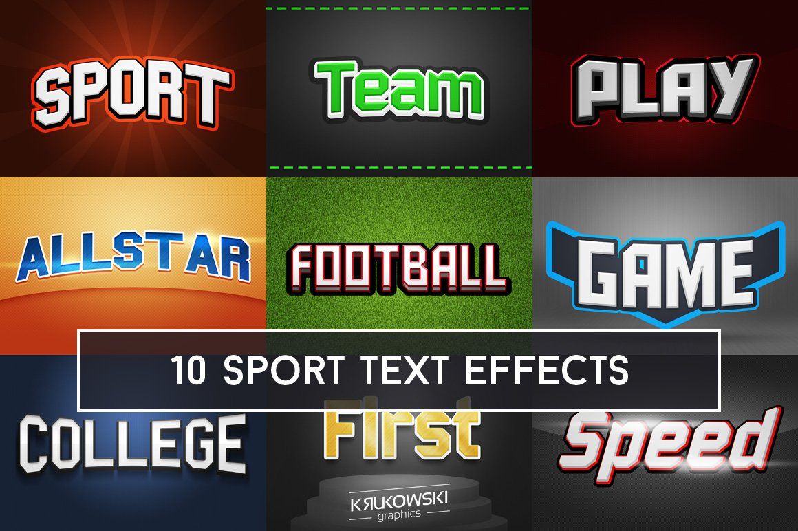 text sport styles photoshop effects front ps mockup
