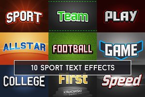 Sport Text Effects Mockup