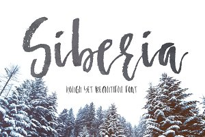 Siberia - rough brush font