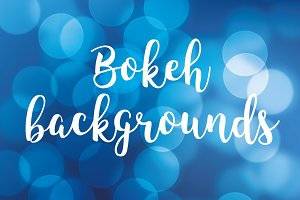 Set of 5 color bokeh backgrounds