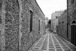 A narrow street in Sicily